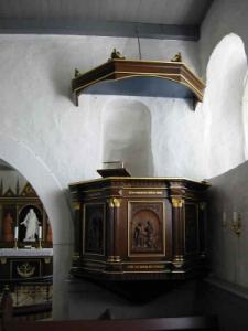 Prædikestol i Hammer kirke