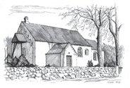 Tegning af Hammer kirke