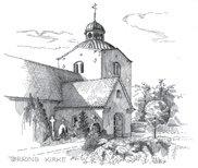 Tegning af Tørring kirke
